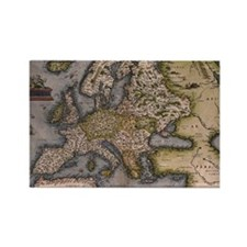 Europe Map 1572 Rectangle Magnet
