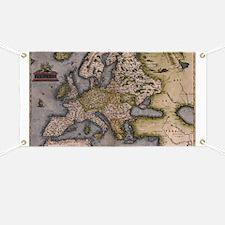 Europe Map 1572 Banner