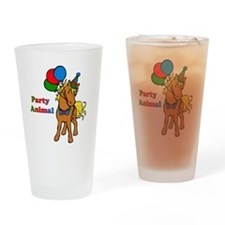 Party Animal Drinking Glass