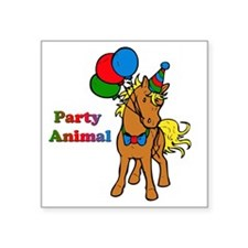 """Party Animal Square Sticker 3"""" x 3"""""""