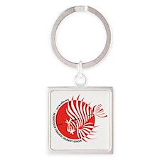 World Lionfish Hunters Association Square Keychain