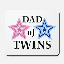 Dad of Twins (Girl, Boy) Mousepad