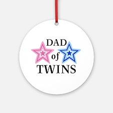 Dad of Twins (Girl, Boy) Ornament (Round)
