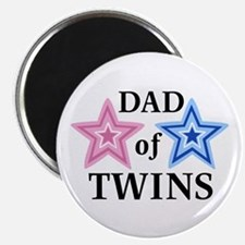 """Dad of Twins (Girl, Boy) 2.25"""" Magnet (100 pack)"""