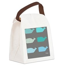 Gray Whales EVAN Canvas Lunch Bag