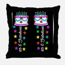 BEAUTIFUL 65TH Throw Pillow