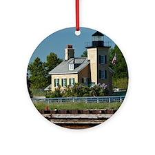Onondaga Lighthouse Round Ornament