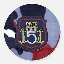 River Squadron 5 Round Car Magnet