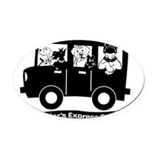 StoryTellers Express Transport Oval Car Magnet