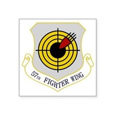 "57th Fighter Wing Square Sticker 3"" x 3"""