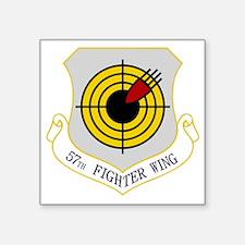 "57th Fighter Wing Square Sticker 3"" x 3"""