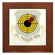 57th Fighter Wing Framed Tile