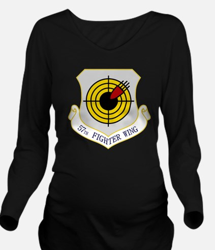 57th Fighter Wing Long Sleeve Maternity T-Shirt