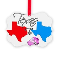 Turning Texas Red to Blue Ornament