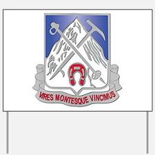 DUI - 2nd Bn - 87th Infantry Regiment Yard Sign