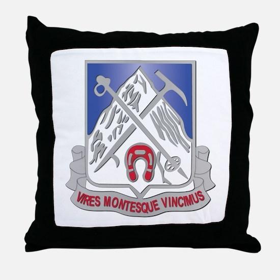 DUI - 2nd Bn - 87th Infantry Regiment Throw Pillow