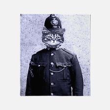 Policeman Cat Throw Blanket