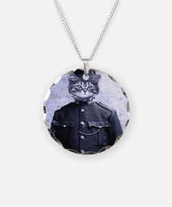 Policeman Cat Necklace