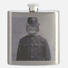 Policeman Cat Flask