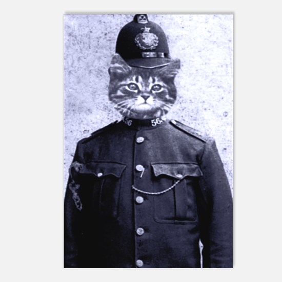 Policeman Cat Postcards (Package of 8)