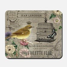 Vintage French Bird Mousepad