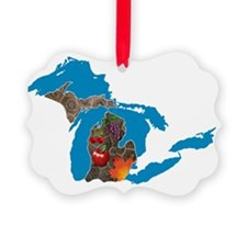 Great Lakes Michigan Harvest Ornament