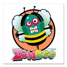 """Zombee Square Car Magnet 3"""" x 3"""""""