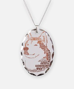 Malamute Words Necklace