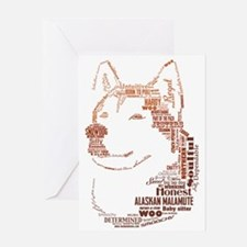 Malamute Words Greeting Card