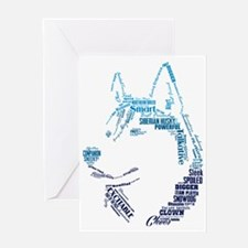 Husky Words Greeting Card