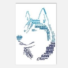 Husky Words Postcards (Package of 8)