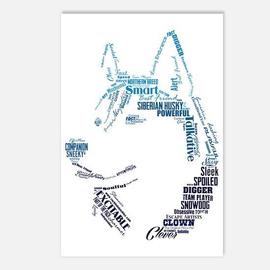 Husky Words Postcards (Package of 8)
