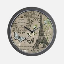 Vintage French Eiffel Tower Wall Clock