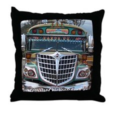 Guatemalan Chicken Bus: Santa Fe Throw Pillow