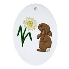 Spring Bunny Oval Ornament