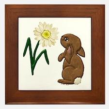 Spring Bunny Framed Tile
