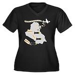Bombing Democracy Plus V-Neck T-Shirt (Dark)