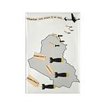 Bombing Democracy Rectangle Magnets (10 pk)