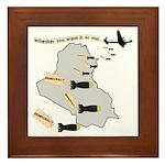 Bombing Democracy Tile (Framed)