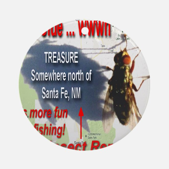 New Clue Its More Fun Fly Fishing Round Ornament