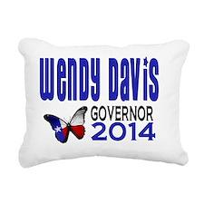Wendy Davis Texas Govern Rectangular Canvas Pillow