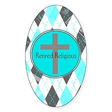 Retired Religious Argyle 3 Decal