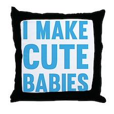MakeCuteBabies1C Throw Pillow