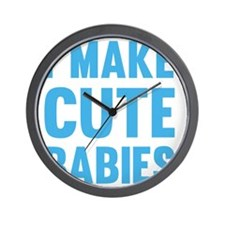MakeCuteBabies1C Wall Clock