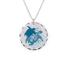 Aqua Turtle Love Necklace
