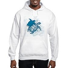 Aqua Turtle Love Hoodie Sweatshirt