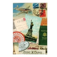 Vintage Passport travel c Postcards (Package of 8)