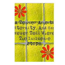 retired teacher tiles bla Postcards (Package of 8)