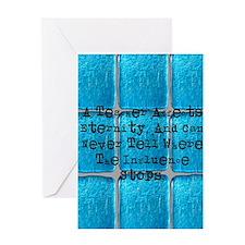retired teacher tiles blanket Greeting Card