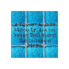 """retired teacher tiles blank Square Sticker 3"""" x 3"""""""